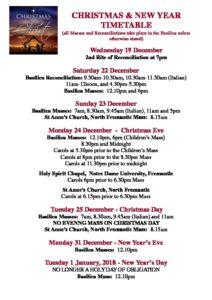 We hope you can join us to celebrate this Advent season